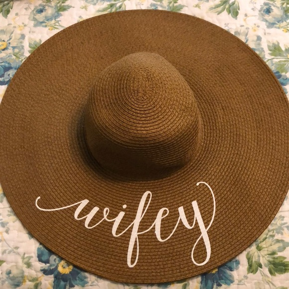Accessories - Wifey Honeymoon floppy hat dca938744f4